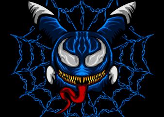 Cute Monster Venom T-shirt template design vector illustration