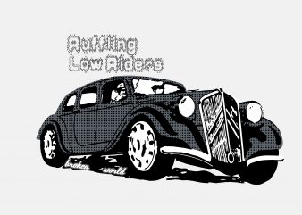 Low Rider t shirt vector graphic