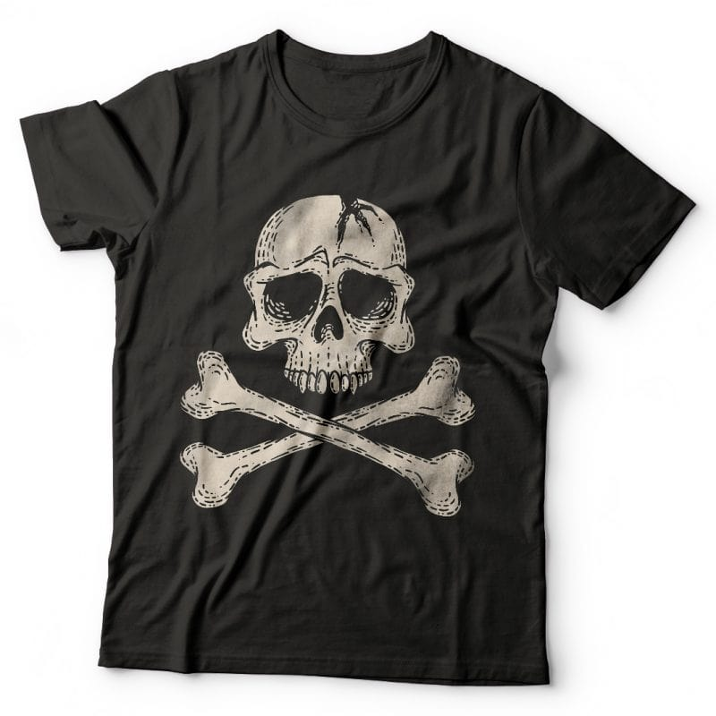 Danger Skull. Vector T-Shirt Design buy t shirt design