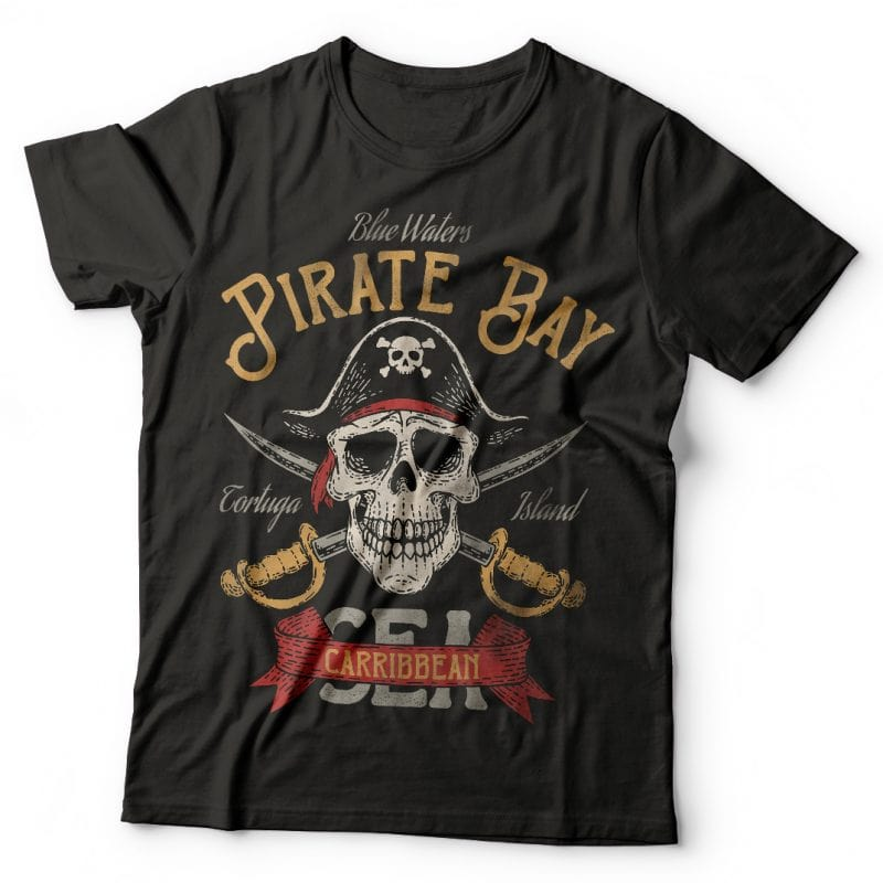 Pirate Bay. Vector T-Shirt Design commercial use t shirt designs