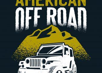 American Off Road t shirt vector