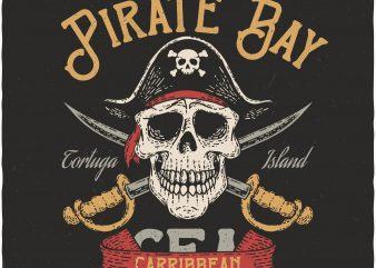 Pirate Bay. Vector T-Shirt Design