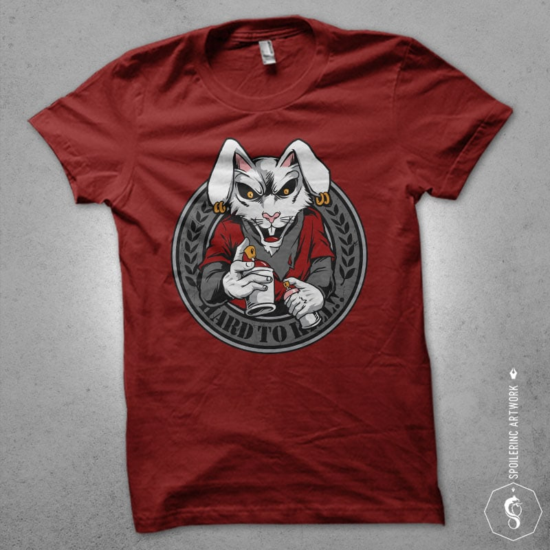 rabbit clan Vector t-shirt design vector t shirt design