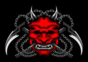 Ronin samurai with Kama chain buy t shirt design artwork