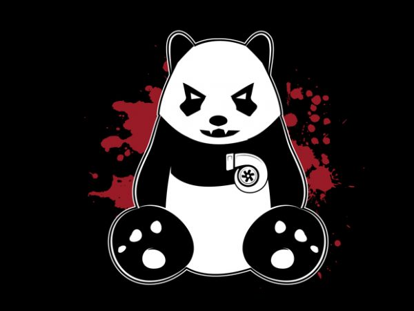 panda turbo Vector t-shirt design