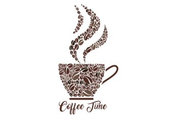 coffee time Vector t-shirt design