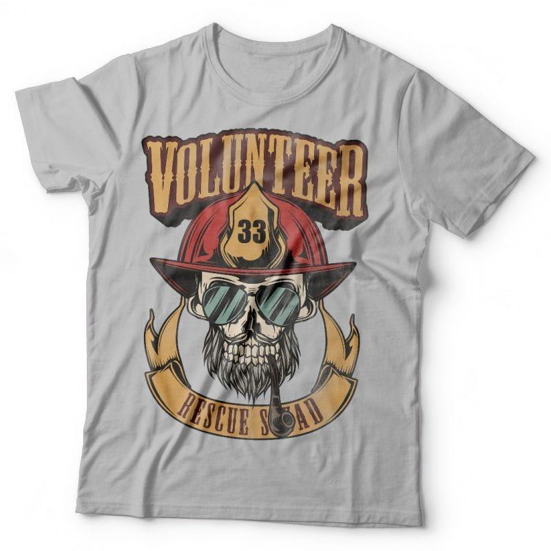 Volunteer resque squad. Vector T-Shirt Design buy t shirt designs artwork