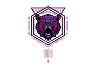 bear head sacred geometry buy t shirt design