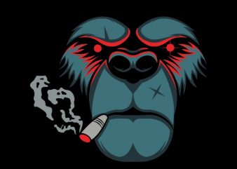bear smoke t shirt template