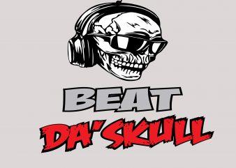 Beat Da' SKull Tshirt Design