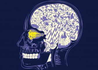 Funny Human Brain t shirt graphic design