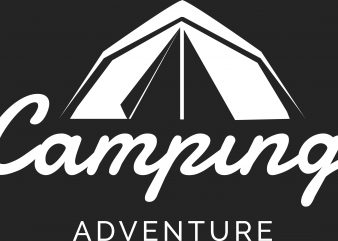Camping Adventure t shirt vector file