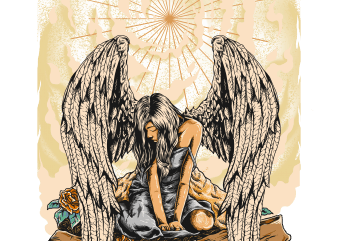 crying angel t shirt vector file