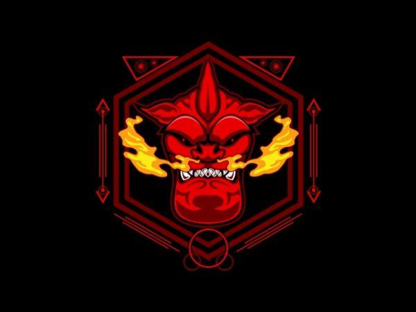 devil head sacred geometry t shirt vector illustration