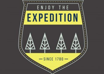 Enjoy The Expedition vector clipart