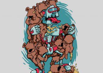 Robo Bear t shirt design online