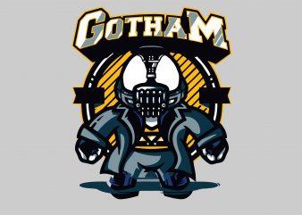 Gotham tshirt design for sale