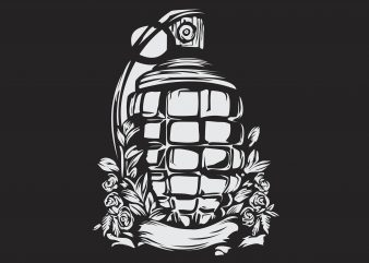 Grenade Vector vector t shirt design artwork