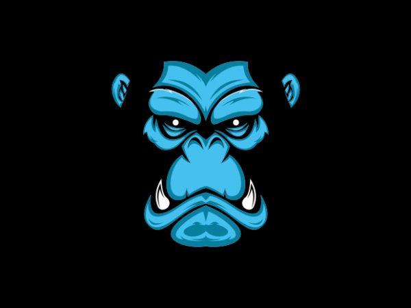 gorilla avatar skin vector t-shirt design