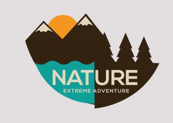 Nature Extreme Adventure T shirt vector artwork