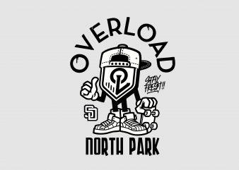 Overload North Park buy t shirt design