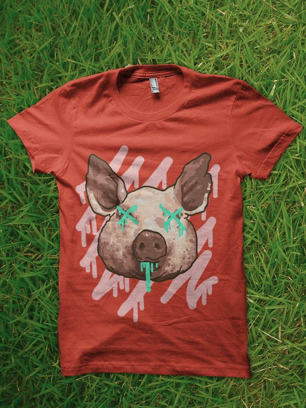 pop pig tshirt design commercial use t shirt designs