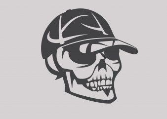 Skull t shirt template vector