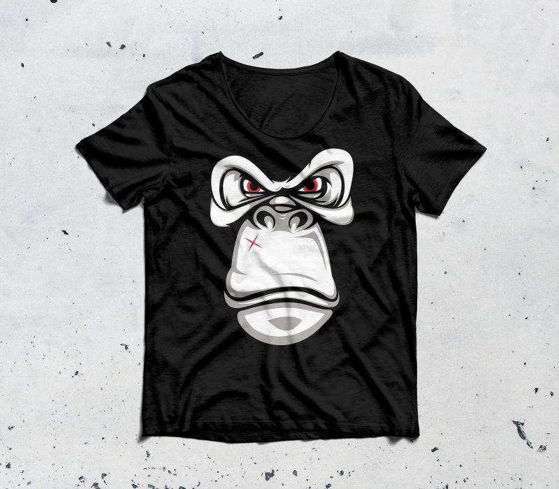 bad gorilla t shirt designs for merch teespring and printful