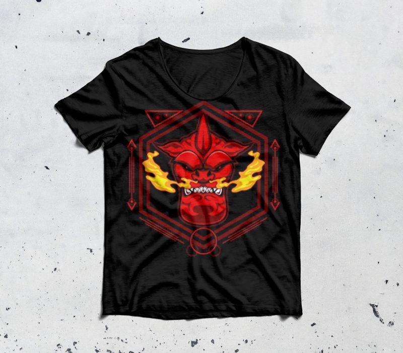 devil head sacred geometry tshirt design for sale