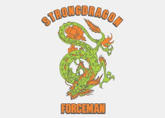 Strong Dragon vector t-shirt design template
