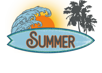 surf t shirt template vector