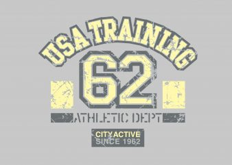 USA Training t shirt vector graphic