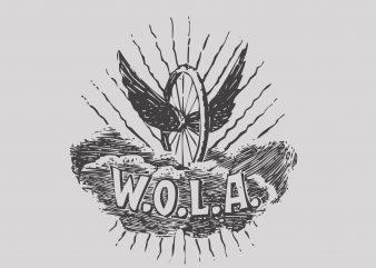 Wola t shirt design for sale