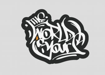 World Yours buy t shirt design for commercial use