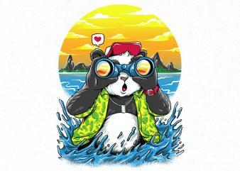 summer panda Graphic t-shirt design
