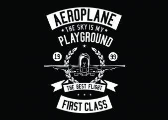 Aeroplane Tshirt Design