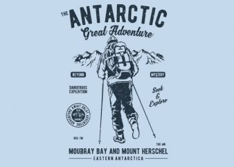 Antarctic Adventure Vector t-shirt design