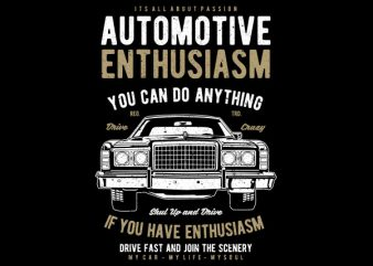 Automotive Enthusiasm Vector t-shirt design