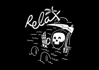 Relax vector shirt design