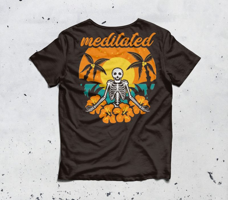 meditated t shirt designs for print on demand