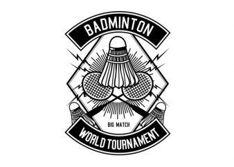 Badminton Tshirt Design