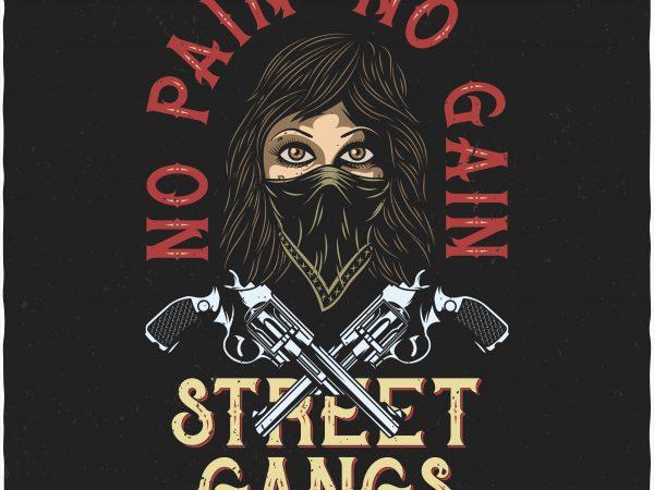 No pain No gain. Vector T-Shirt Design