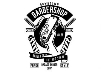 Barber Revolution Tshirt Design