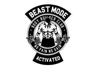 Beast Mode Activated tshirt design vector