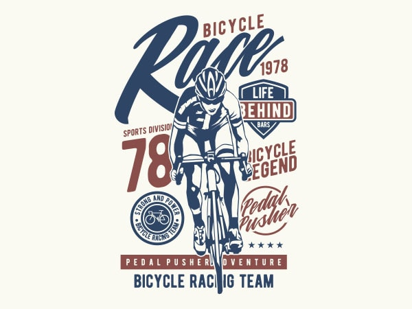 Bicycle Race Graphic t-shirt design