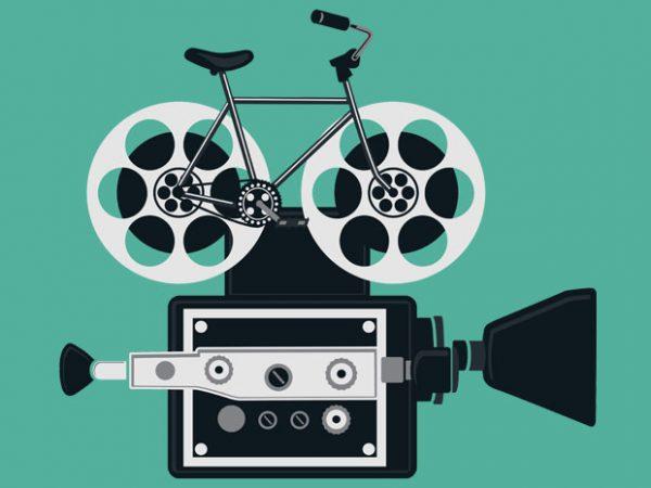 Bicycle Roll Film Tshirt Design
