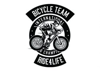 Bicycle Team Tshirt Design