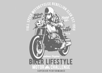 Biker Lifestyle Graphic t-shirt design
