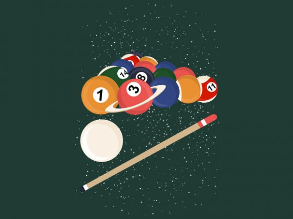Billiard Space Tshirt Design