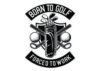 Born To Golf Tshirt Design